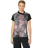Crunchy Leopard Print Short Sleeve Top