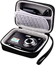 """Carrying & Protective Case for Digital Camera, AbergBest 21 Mega Pixels 2.7"""" LCD Rechargeable HD/Canon PowerShot ELPH 180/190 / Sony DSCW800 / DSCW830 Cameras for Travel - Black"""
