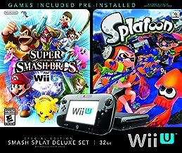 Wii U Super Smash Bros and Splatoon Bundle Special Edition Deluxe Set (Renewed)