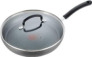 T-fal特福E91897 Ultimate硬质阳极化红点不粘炒锅 带玻璃盖 10英寸 灰色