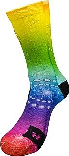 Estrellas Active Athletic Calcetines con Diseño Motivo Hecho a Mano Calcetines de impresión 3D para Hip hop Rap la fiesta Baloncesto Voleibol Balonmano Respirable Coolmax Calcetines deportivos