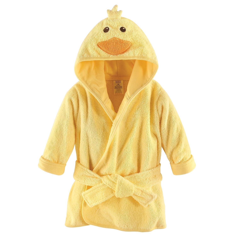 Luvable Friends Unisex Baby Cotton Animal Face Bathrobe, Duck, One Size