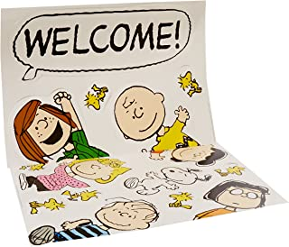 Eureka Charlie Brown Welcome Back to School Classroom Door Bulletin Board Decoration Set, 15 pcs