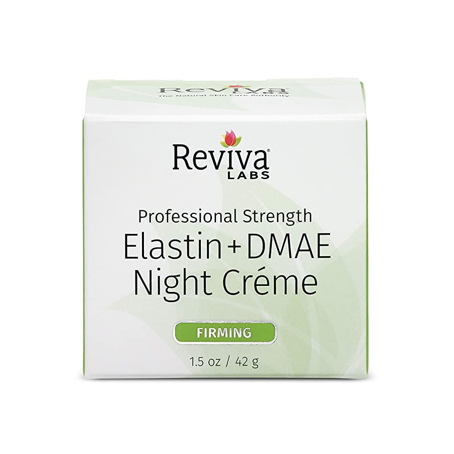 練る時折まとめるReviva Labs, Elastin & DMAE Night Cream, 1.5 oz (42 g)