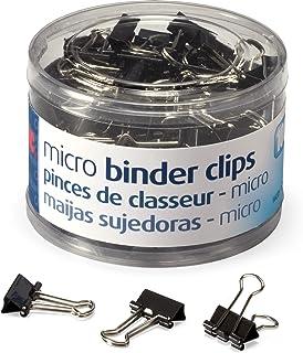 کلیپ های بسته بندی میکرو اندازه ، Officemate ، سیاه ، 100 در هر وان (31030)