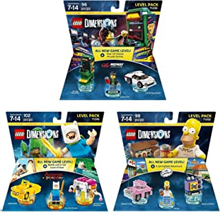 Midway Arcade Level Pack + The Simpsons Homer Level Pack + Adventure Time Finn The Human Level Pack - Lego Dimensions (Non Machine Specific)