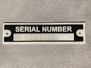 Serial Tag Plate Custom Engraved Cargo Utility Flatbed Landscape Trailer 1