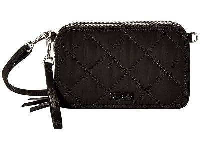 Vera Bradley Performance Twill RFID All-In-One Crossbody (Black) Handbags