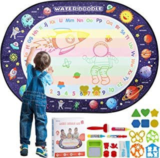 Apsung Large Aqua Doodle Mat 100 X 70 cm Water Drawing Doodle Magic Mat Educational Toys Gifts for Kids Toddlers Boys Girl...