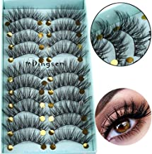 10 Pairs 3D Soft Faxu Mink Hair False Eyelashes Crisscross Wispy Fluffy Lashes Extension Eye Makeup Tools Handmade Eyelashes (A01)