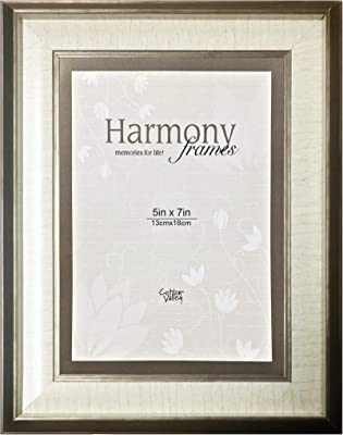Harmony Frames 5x7 Bordered Matted Wood Picture Frame (Copper, Ivory Matted)