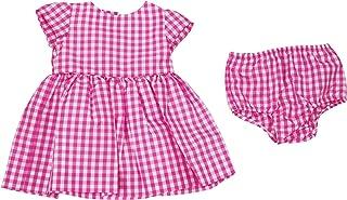 Ralph Lauren Baby Girls Checkered Taffeta Dress with Diaper Cover