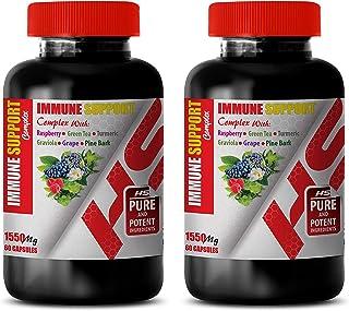Immune System Vitamins for Women - Immune Support Complex 1550 Mg with Raspberry Green Tea Turmeric GRAVIOLA Grape Pine BA...