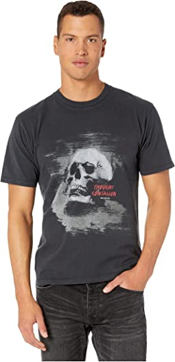 Short Sleeve Graphic T-Shirt with A Skull Head Print
