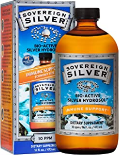 Sovereign Silver Bio-Active Silver Hydrosol for Immune Support* - 16 Fl Oz - The Ultimate Refinement of Colloidal Silver - Safe*, Pure and Effective* - Premium Silver Supplement
