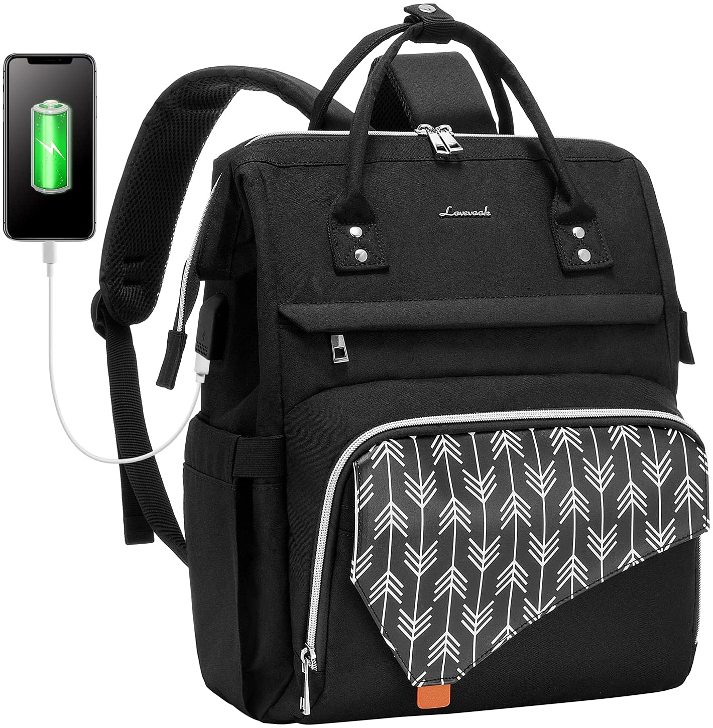 LOVEVOOK Laptop Backpack for Women,15.6 Inch Work School Travel Bag Computer Bags Teacher Nurse Backpack Purse Bookbag (Upgraded)