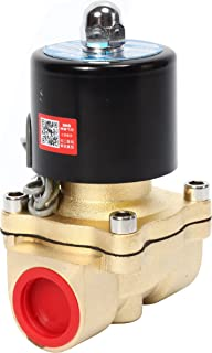 SNS 2W200-20/DC12V 3/4 NPT Brass Electric Solenoid Valve Normally Closed Water, Air, Diesel