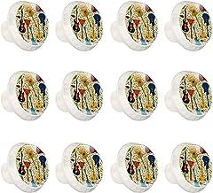 """12 Pack Ronde Keukenkast Knoppen Trekt (1-37/100"""" diameter) - Gitaar Instrument - Dressoir Lade/Deur Hardware - DIY Patroo..."""