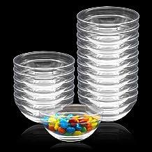 15 Pack 4 Inch Glass Ramekins Bowls, Farielyn-X Mini Glass Prep Dessert Bowls Small for Kitchen Prep, Dessert, Dips, and C...