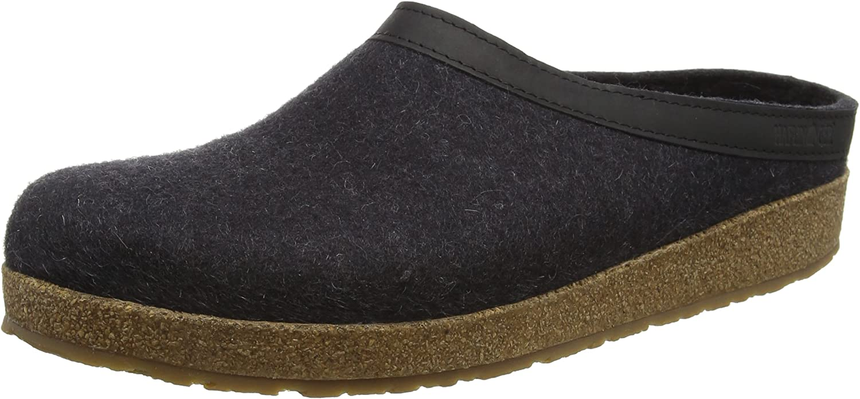 Haflinger Torben, Unisex Adults' Open Back Slippers, Charcoal, 2 UK