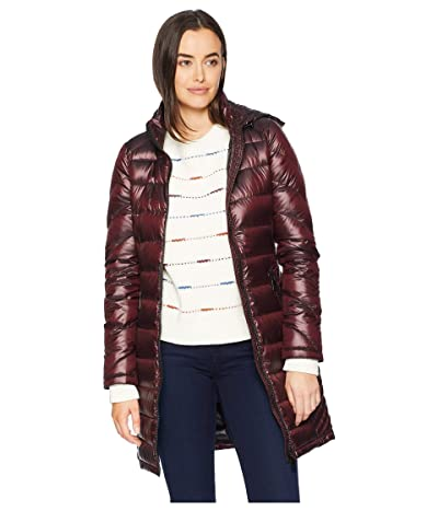 Calvin Klein Walker Length Packable with Chunky Zipper Hardware (Shine Chianti) Women