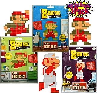 8-Bit Art Sticky Note Art Kit Nintendo Super Mario Bros. Large Mario Jumping, Standing & Fire Gift Set Bundle - 3 Pack