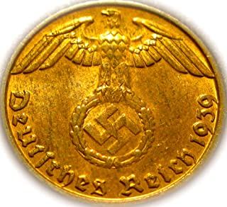 Germany Third Reich 1 Pfennig Swastika Coin