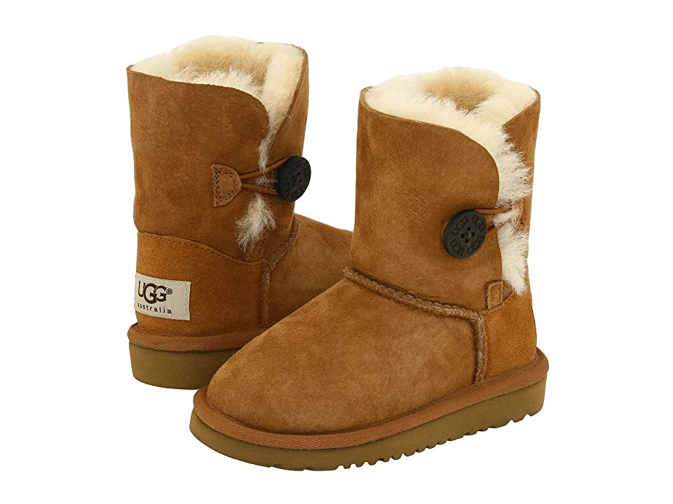 UGG Kids Bailey Button II (Toddler/Little Kid) (Chestnut) Girls Shoes