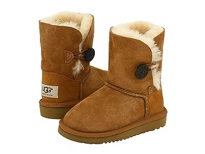 UGG Kids Bailey Button II (Toddler/Little Kid) (Chestnut) Girls Shoes