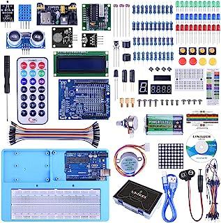 UNO Starter Kit for Arduino, UNIROI Complete Arduino Kit for Beginner with Detailed Tutorials, RAB Holder, Breadboard for ...