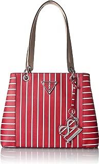GUESS Kamryn Red Stripe Shopper