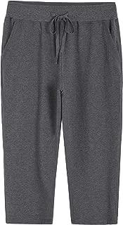 Women's Knit Sweatpants Capri Pants with Pockets