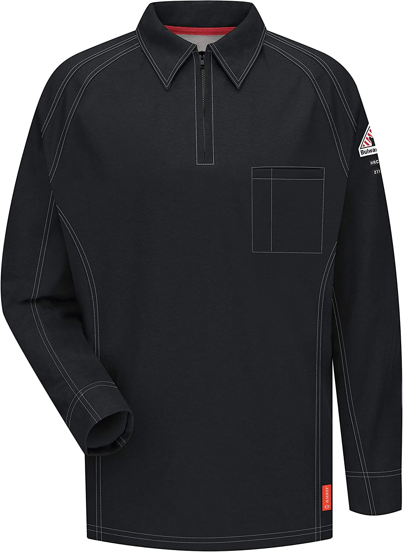 Bulwark FR Men's Iq Series Comfort Polo Long Knit Sleeve Fr Max 67% OFF half