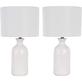 Decor Therapy MP1236 Addis Table Lamps, White