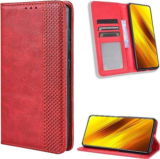 TOPOFU Coque Motorola Moto G30/G10, Premium PU/TPU Housse Flip Étui Portefeuille avec Stand Support et Carte Slot pour Motorola Moto G30/G10 (Rouge)