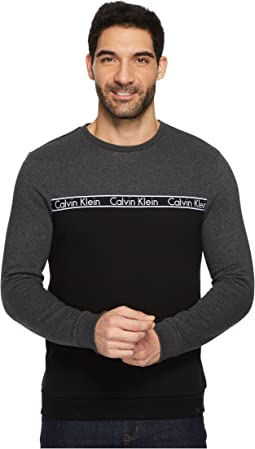Calvin Klein - Crew Neck Shirt with Logo Tape Detail