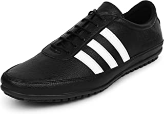 BUWCH Men Black Synthetic Leather Casual Shoes