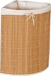Honey-Can-Do International HMP-01618 Corner Linen Basket Bamboo And Wicker