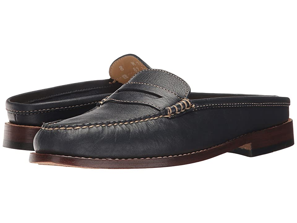 G.H. Bass & Co. Wynn Weejuns (Navy Soft Tumbled Leather) Women