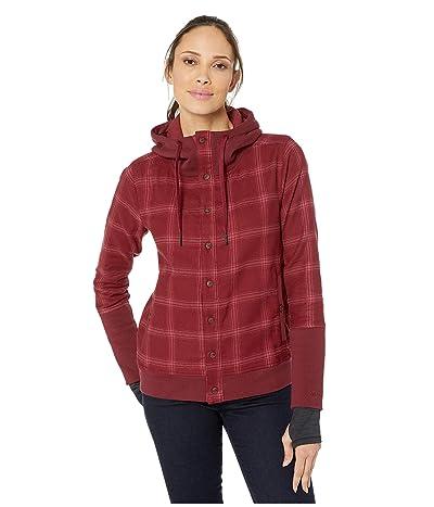 Marmot Stowe Heavyweight Flannel Long Sleeve Shirt (Claret) Women