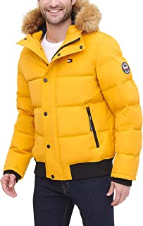 Men's Quilted Arctic Cloth Snorkel Bomber Jacket with...