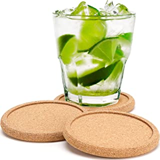 Dulce Cocina Coff Cork Coasters, Absorbent Cup Mat with Round Ring Protect Wood Furniture,