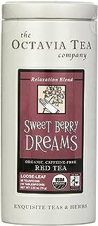 Octavia Tea Sweet Berry Dreams (Organic, Caffeine-Free Red Tea/Rooibos) Loose Tea, 2.65 Ounce Tin