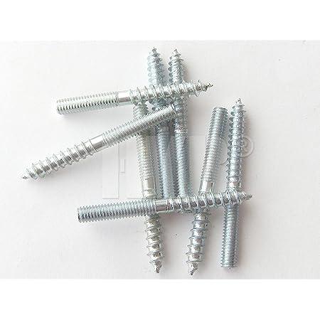 + Edelstahl + MENGENRABATT  50 St/ück M12 x 120mm Stahl STOCKSCHRAUBEN M6 M8 M10 M12 L/änge 60-300mm Stahl verzinkt V2A verzinkt