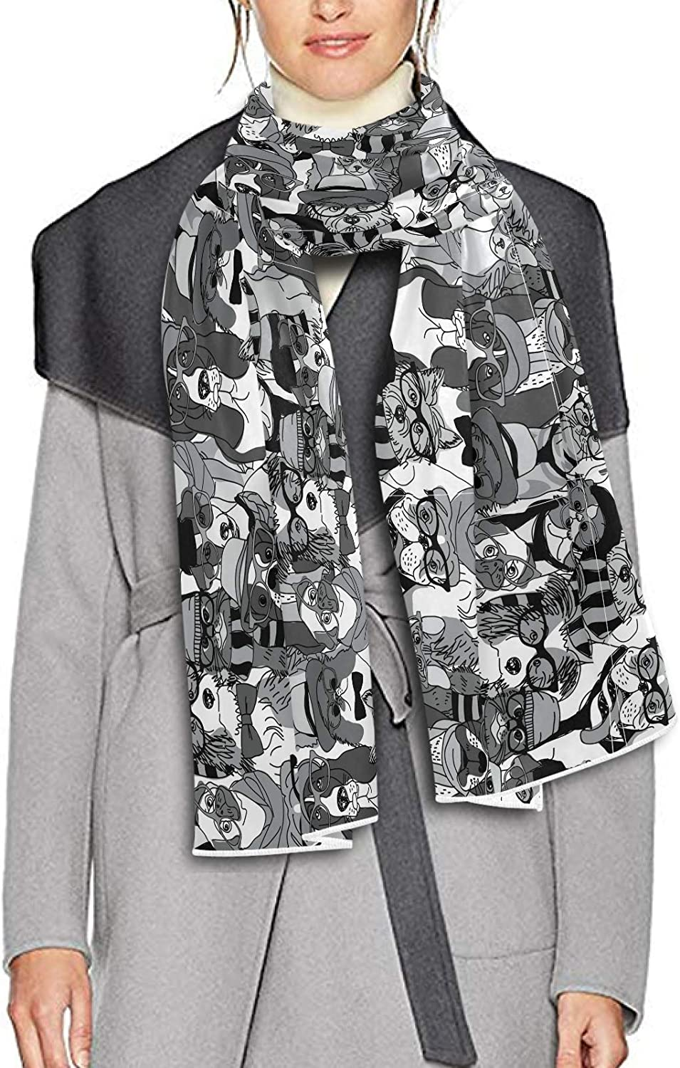 Scarf for Women and Men Fashion Cats Dogs Shawl Wraps Blanket Scarf Soft Winter Large Scarves Lightweight