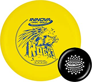 Innova Disc Golf DX RocX3 Disc Golf Mid-Range with Limited Edition Stars Stamped Innova Mini – Colors Will Vary