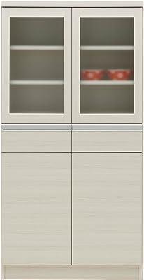 フナモコ 薄型食器棚 【幅73.2×奥31.5×高さ143.7cm】 ホワイトウッド CKS-73L