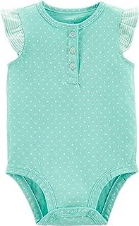 Carter's Polka Dot Flutter-Sleeve Bodysuit