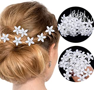 60 Pieces Bridal Wedding Hair Pins Floral Rhinestone U-shaped Hair Clips Crystal Flower Hair Pins for Wedding Party Favors (Style 1)