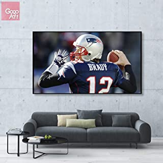 GoGoArt ROLL Canvas print wall art photo big picture poster modern (no framed no stretched not oil painting) Tom Brady sport NFL football New England Patriots Super Bowl mvp A-0148-1.75 (24 x 42 inch)